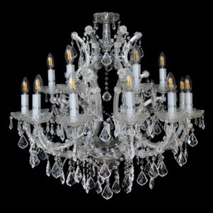 Lampara de cristal chandelier de 19 luces