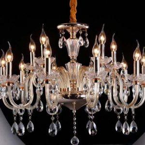 lampara de cristal 15 luces