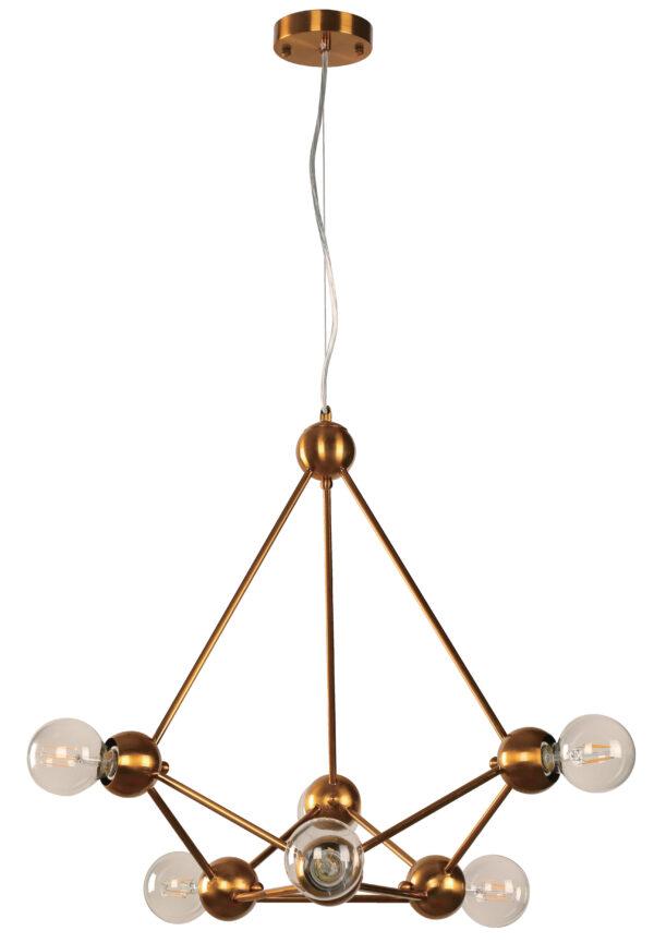 lampara colgante vintage dorada