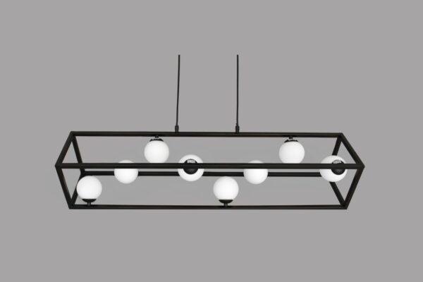 Lámpara moderna rectangular