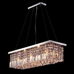 Lámpara rectangular de cristal