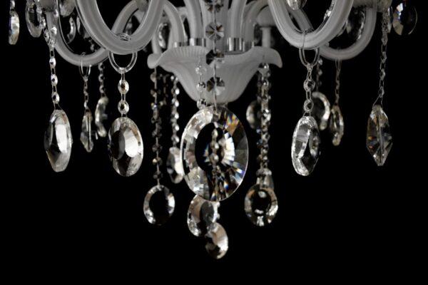 Lámpara de cristal blanca