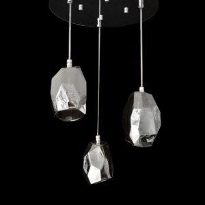 Lámpara de cristal macizo humo