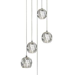 Lámpara de cristal macizo 5 luces