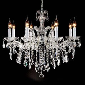 lampara María teresa 8 luces cromo